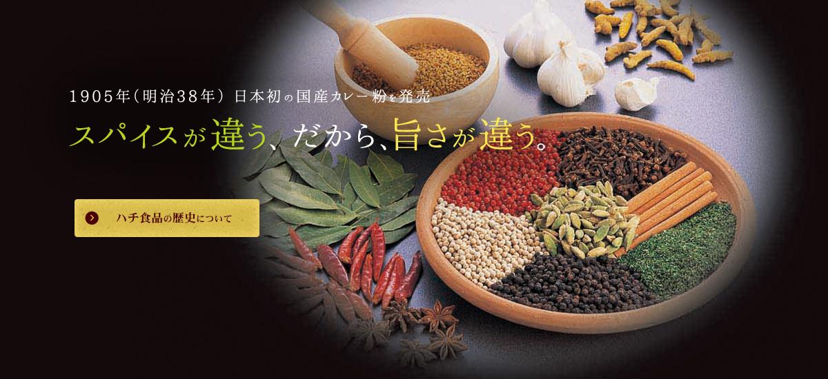 1905年(明治38年)日本初の国産カレー粉を発売。スパイスが違う、だから旨さが違う。
